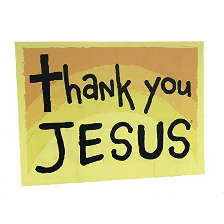 Printed Christian Yard Sign Thank You Jesus w/ Stake 18