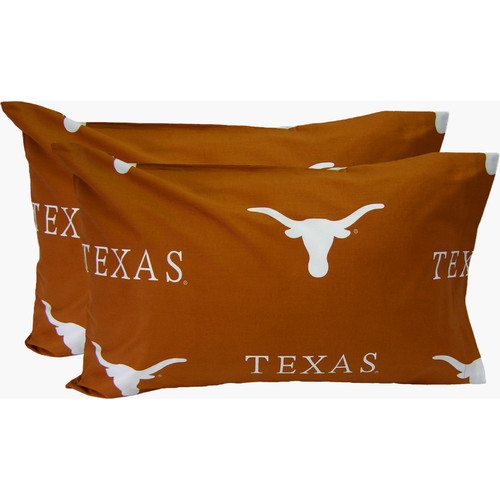 College Covers Collegiate NCAA Texas Longhorns Pillowcase (Set of 2)