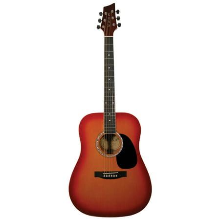 Kona K41CSB 41-Inch Acoustic Dreadnought Guitar With Cherry Sunburst Finish