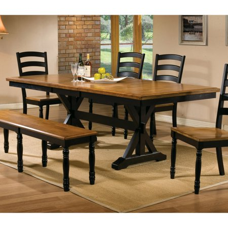 Casual Dining Butterfly Leaf (Winners Only Quails Run 84 in. Trestle Dining Table with 18 in. Butterfly Leaf)