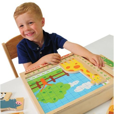 Wooden Animal Measure and Match 46 pc. Set ()