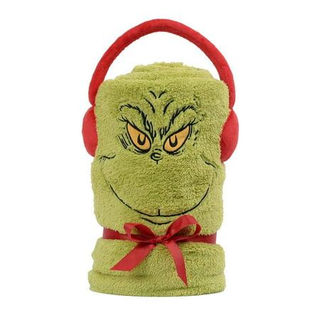 Swiss Blanket (Department 56 Snowthrows The Grinch Christmas Dr. Seuss Fleece Throw Blanket New )