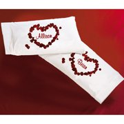 Personalized Rose Petal Pillowcases, Set of 2