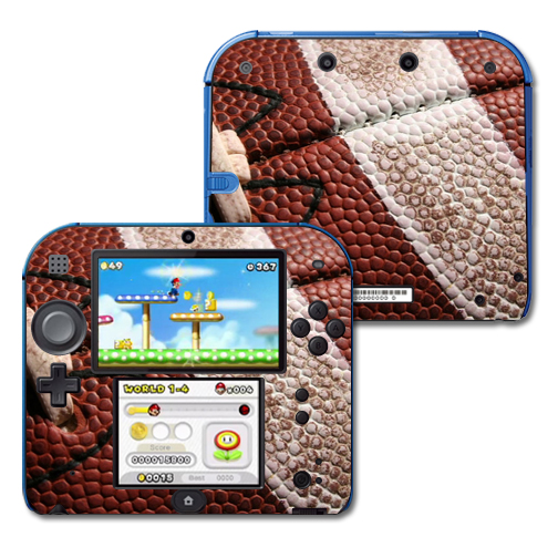 Mightyskins Protective Vinyl Skin Decal Cover for Nintendo 2DS wrap sticker skins Football