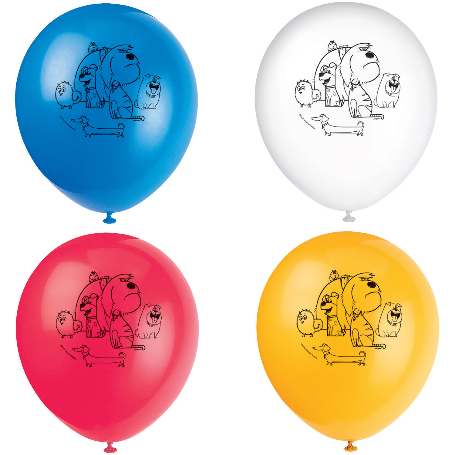 """12"""" Latex The Secret Life of Pets Balloons, 8ct"""