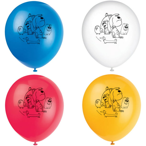 "12"" Latex the Secret Life of Pets Balloons, 8ct"