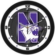 Suntime ST-CO3-NOW-CFCLOCK Northwestern Wildcats-Carbon Fiber Textured Wall Clock