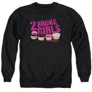 2 Broke Girls Cupcakes Mens Crewneck Sweatshirt