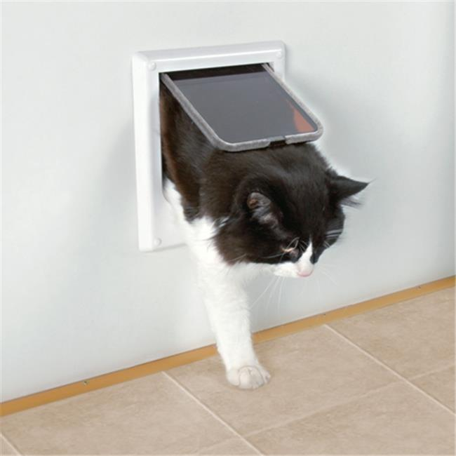 TRIXIE Pet Products 3869 Electromagnetic 4-Way Locking Cat Door, White