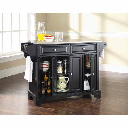 Crosley Furniture LaFayette Stainless Steel Top Kitchen Island ...