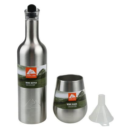 Ozark Trail Wine Bottle And Glasses ()