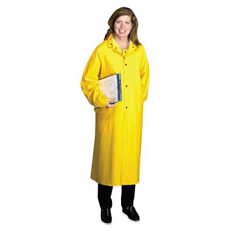 Polyester Yellow Raincoat (Anchor Brand Raincoat, PVC/Polyester, Yellow, X-Large)