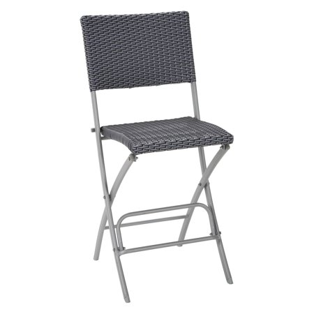 Sensational Cosco Outdoor Living Delray Wicker Bar Stools Set Of 2 Blue And Gray Machost Co Dining Chair Design Ideas Machostcouk