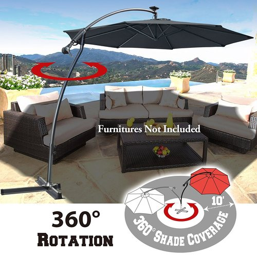 Freeport Park Clara Patio 10' Square Cantilever Umbrella