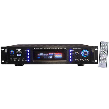 Pyle P3201ATU 3000-Watt Hybrid Pre-Amplifier with AM/FM Tuner/USB