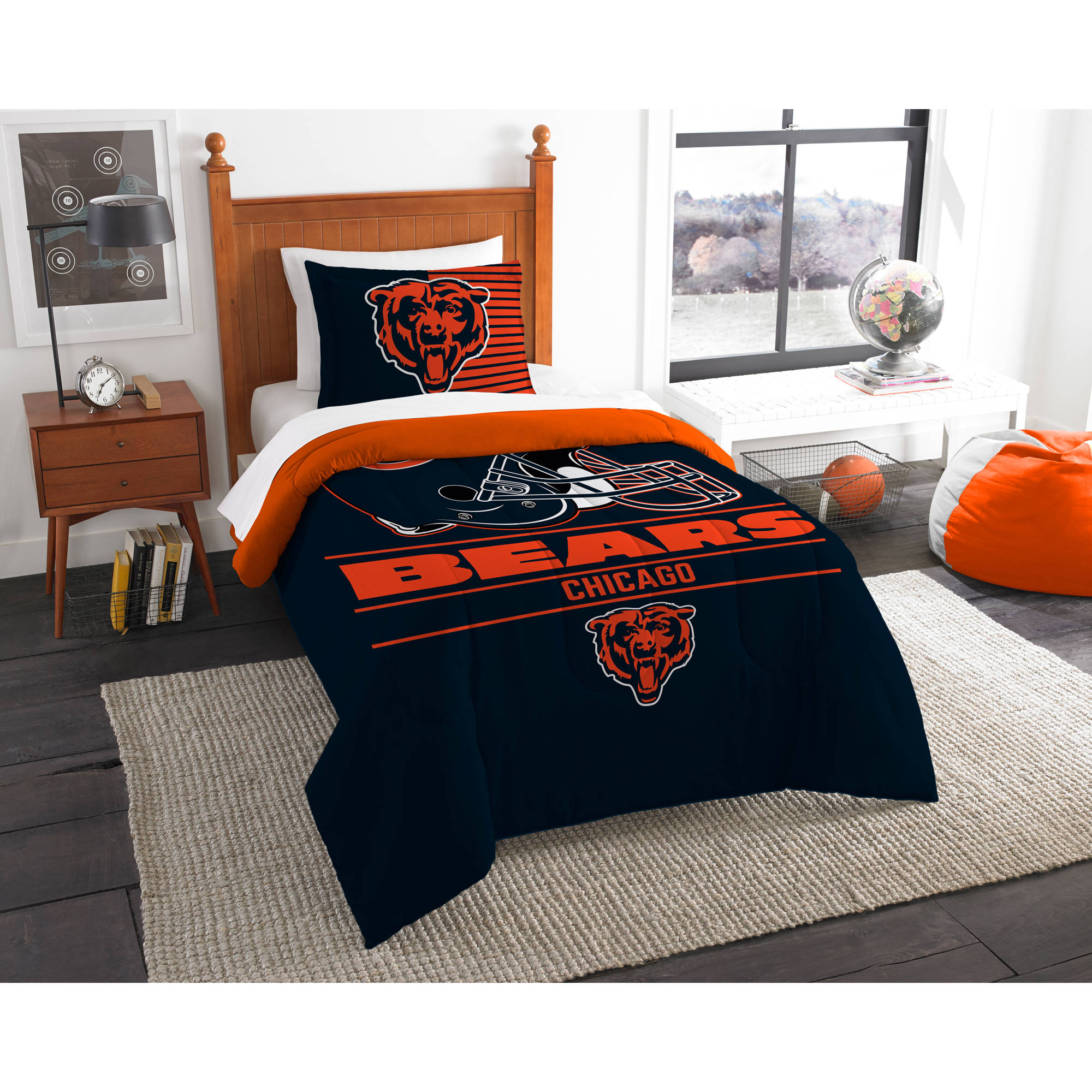 "NFL Chicago Bears ""Draft"" Bedding Comforter Set"