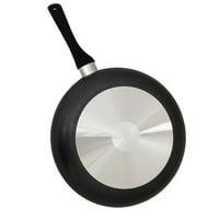 """IMUSA USA 8"""" Charcoal Saut Pan with Black Stourch Handle"""