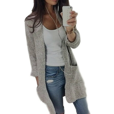 Women Casual Long Sleeve Cardigan Knit Knitwear Sweater Coat Thick Outwear - Dinosaur Sweater For Adults