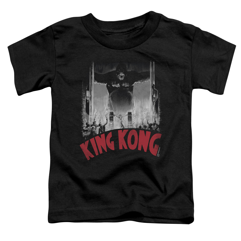 King Kong At The Gates Poster Little Boys Toddler Shirt
