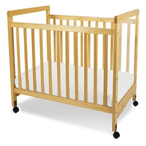 Foundations SafetyCraft Compact Size Clearview Convertible Crib with Mattress