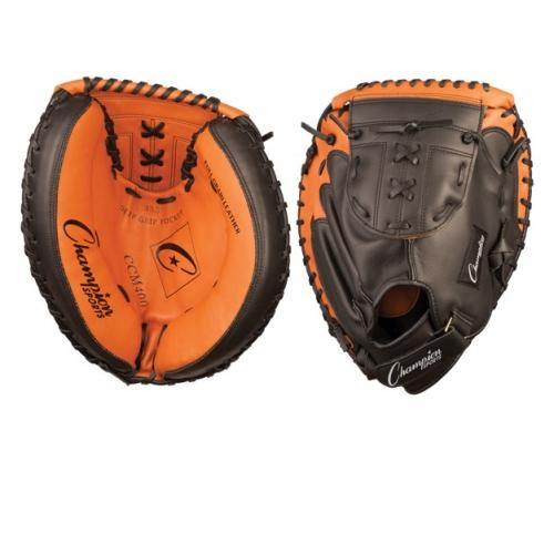Leather Baseball Catcher's Mitt by Champion Sports, Adult 33.5'' by Champion Sports