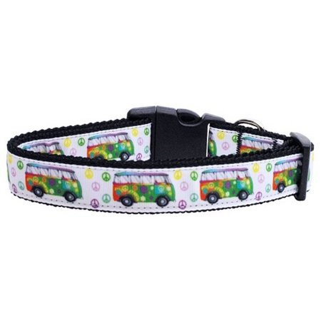(Peace Bus Ribbon Dog Collars Large)