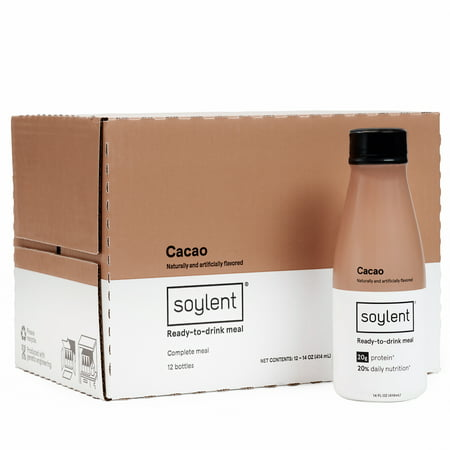 Soylent Meal Replacement Drink, Cacao, 14 FL oz, 12