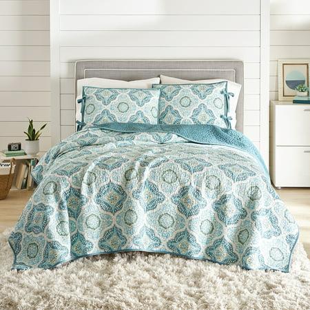 Better Homes And Gardens Aqua Velvet Full Queen Quilt Walmart