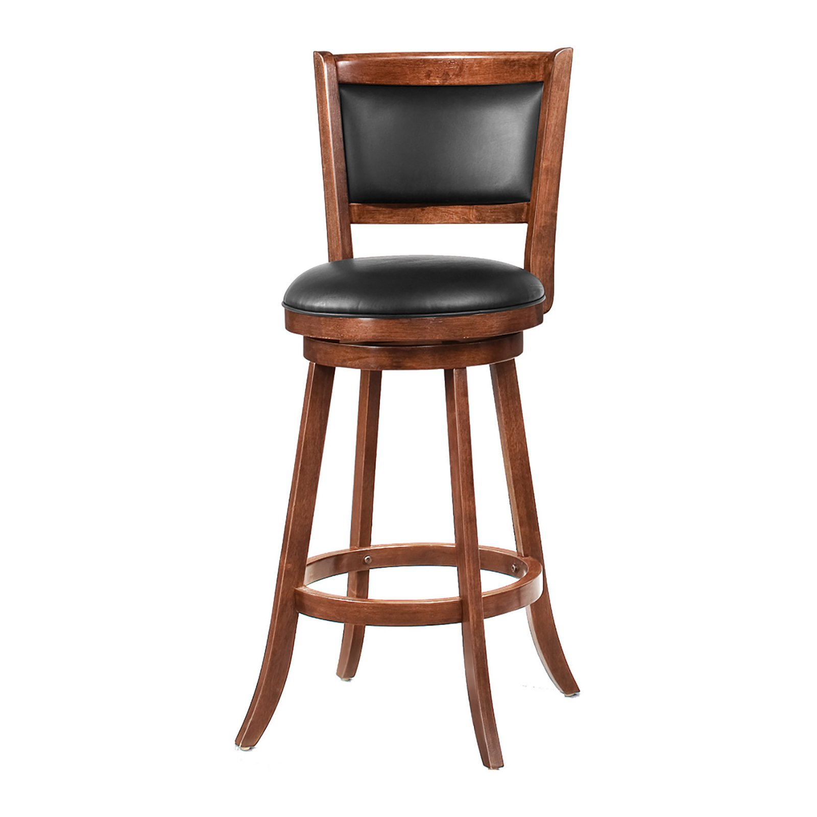 Coaster Furniture 29 in. Solid Back Swivel Bar Stool - Set of 2
