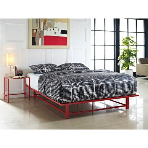 DHI Parsons Metal Ledge Platform Bed, Multiple Colors and Sizes