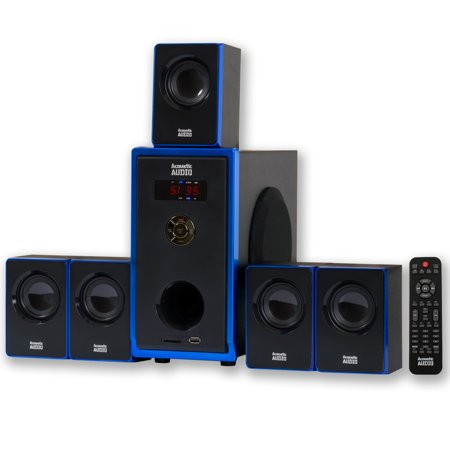 Acoustic Audio AA5102 800W 5.1 Channel Home Theater Surround Sound Speaker System