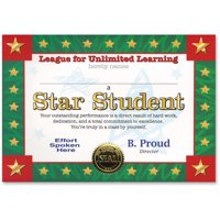 Star Student Certificate (Pack of 6)