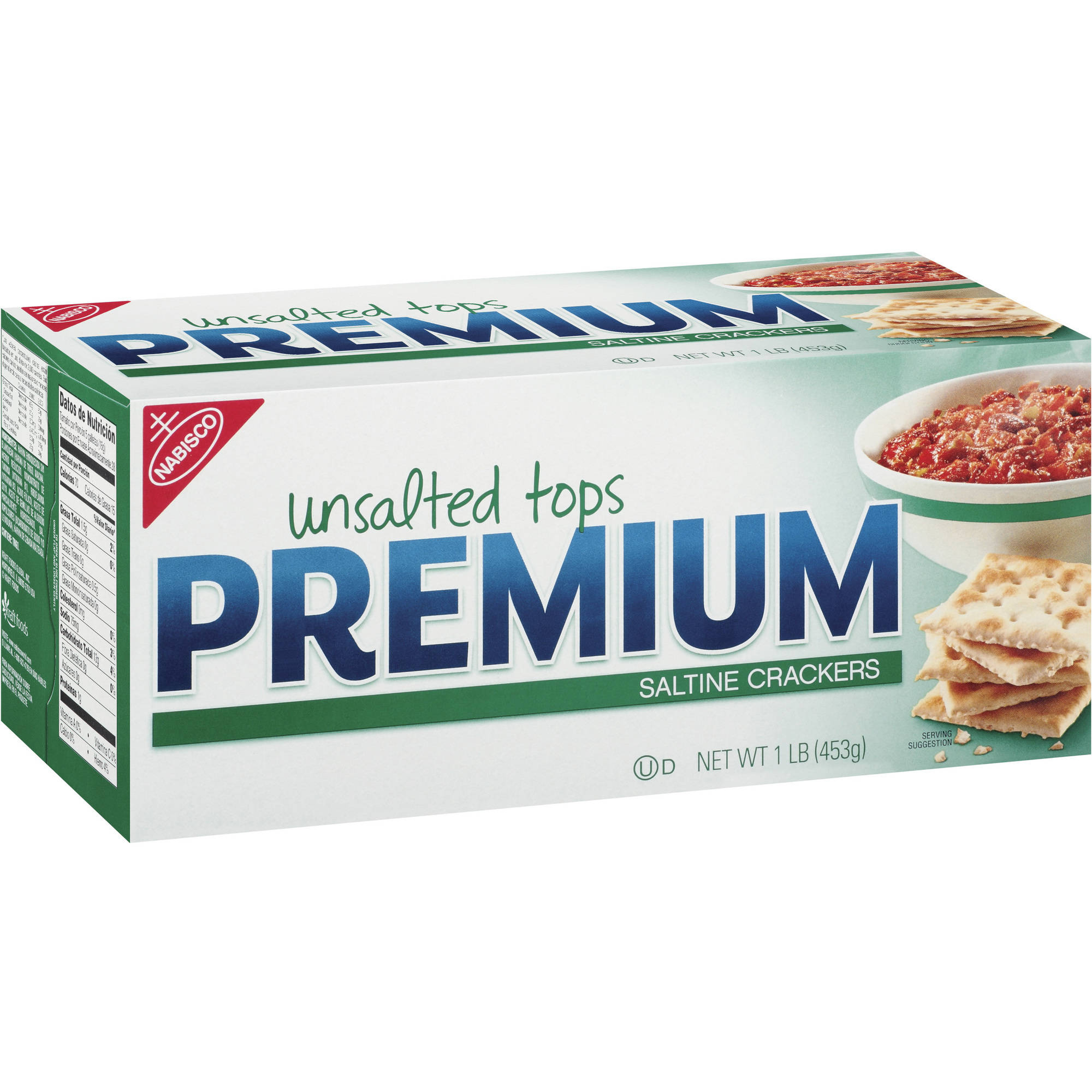 Nabisco Premium Unsalted Tops Saltine Crackers, 16 oz
