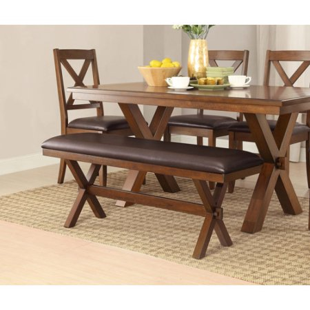 homes and gardens maddox crossing dining bench espresso