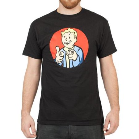Vault Boy Pointing (Red Circle) Men's Black T-Shirt: Small](Fall Out Boy Halloween T Shirt)