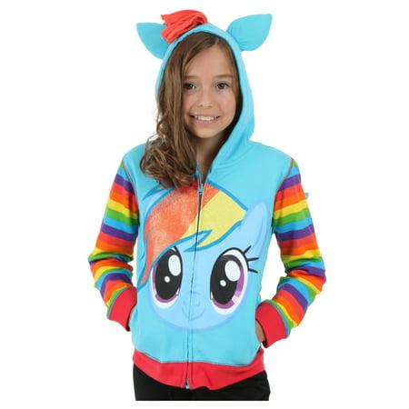 Girls Rainbow Dash Hoodie - Rainbow Dash Hoodie