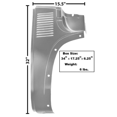 Dynacorn 1106DWT Cowl Outer Lower Panel, RH, 1947-54 Chevy