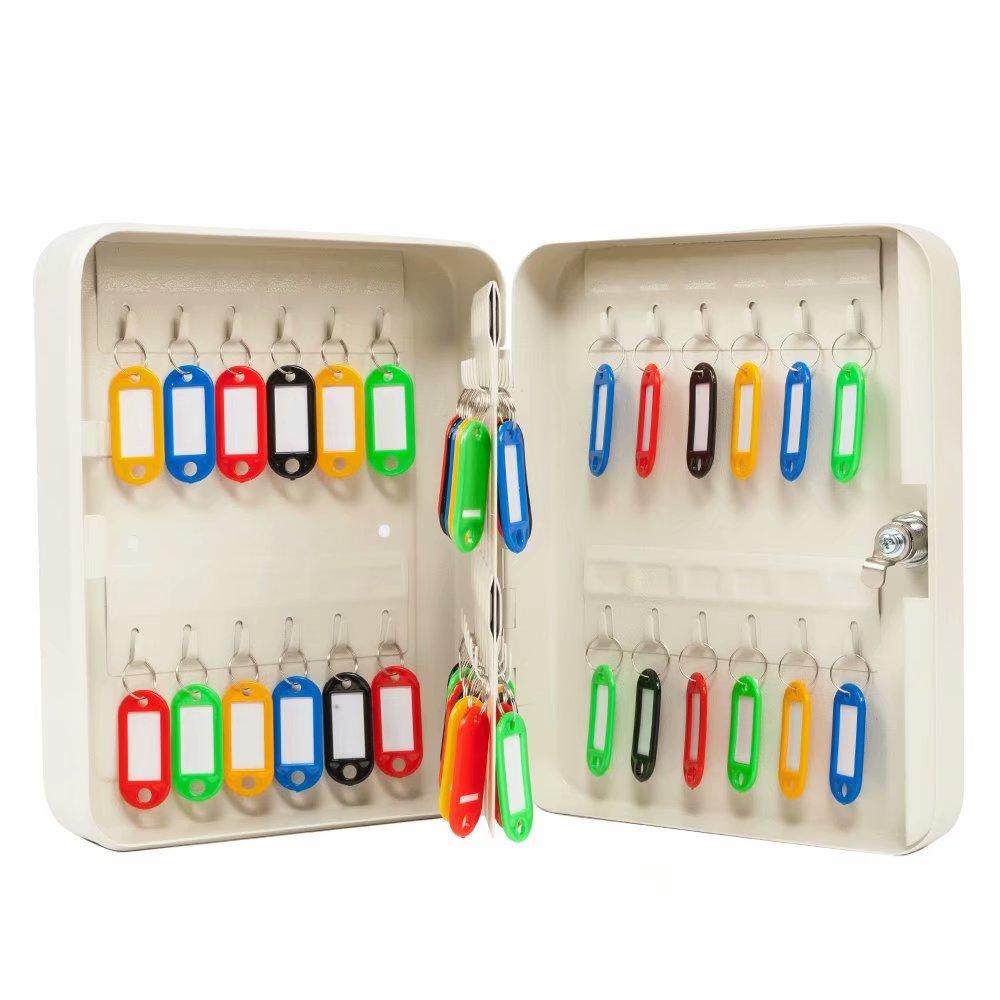 48 Keys Cabinet with Digital Lock - Electronic Key Safe - Pin Code Keyless Storage Box For Keys - Secure Steel Lock box