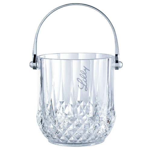 Chenco Inc. 1.25 Qt. Gem Ice Bucket with Chrome Plated Handle by Chenco Inc.