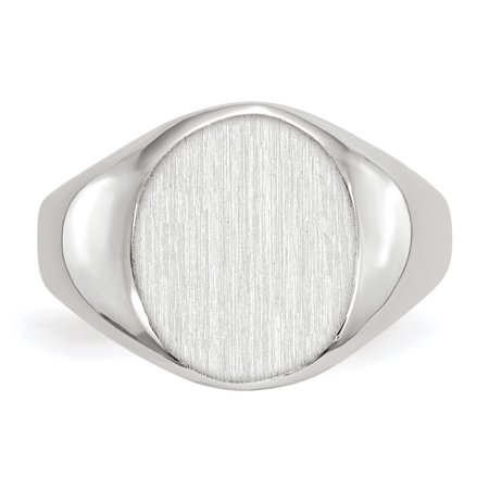 14k White Gold 12.5x11.0mm Signet Band Ring Size 6.00 Fine Jewelry Gifts For Women For Her - image 1 de 9