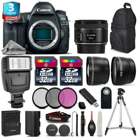 Canon EOS 5D Mark IV Camera + 50mm + Flash + 64GB + Filter Kit + 2yr Warranty