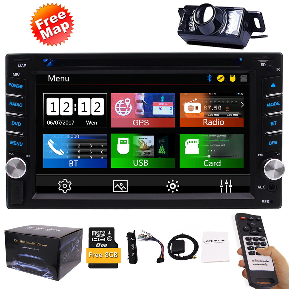 FREE Backup Camera Included + New Design Double Din Car Stereo DVD Player GPS Navigation Radio Bluetooth 2 Din... by EinCar