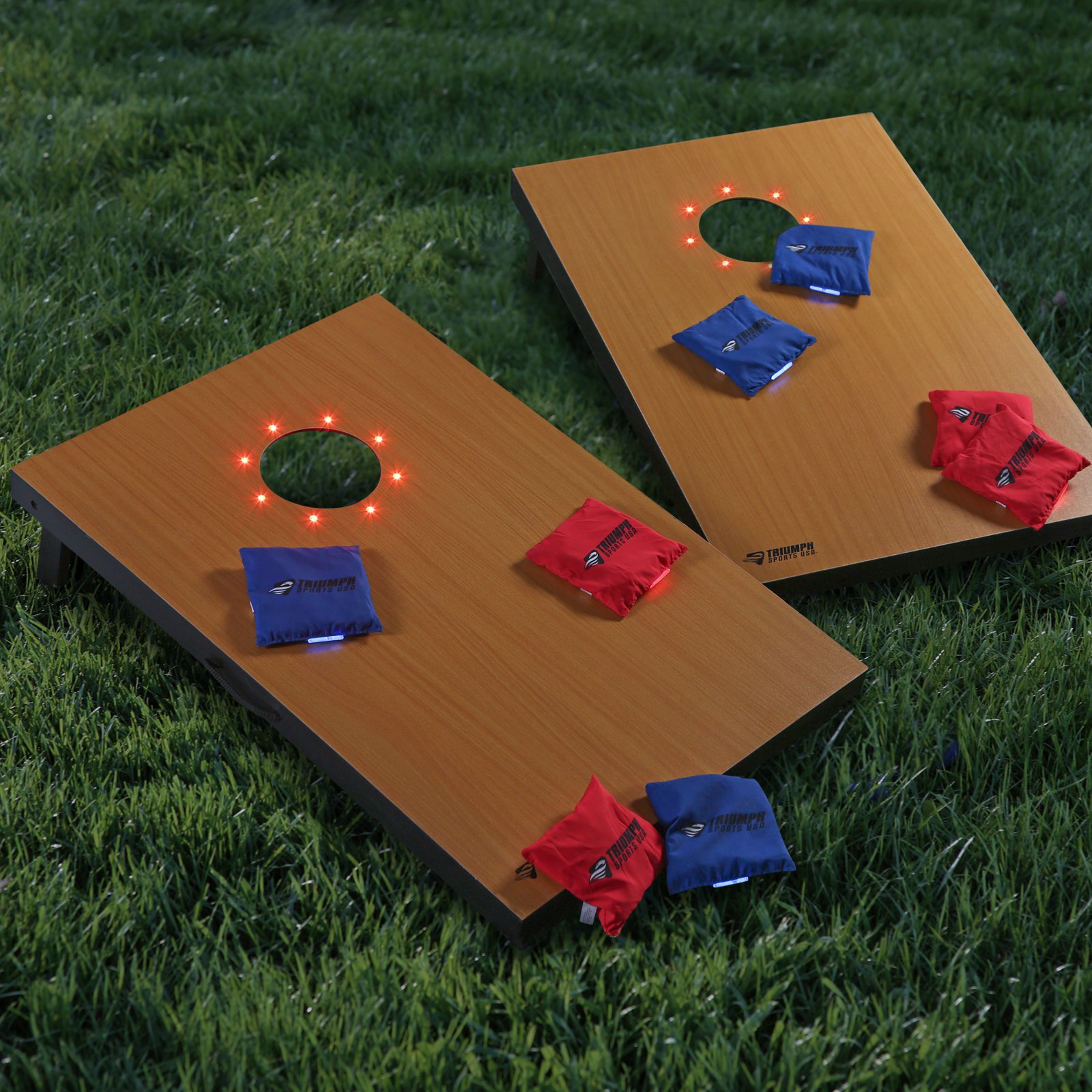 Triumph Sports LED Glow Cornhole Set