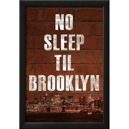 No Sleep Til Brooklyn Music Poster Framed Poster Wall Art  - 15x21