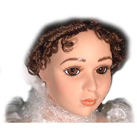- Princess Bride, Lady in Red Fine Musical Doll Bisque Porcelain with Swiss Musical Movement