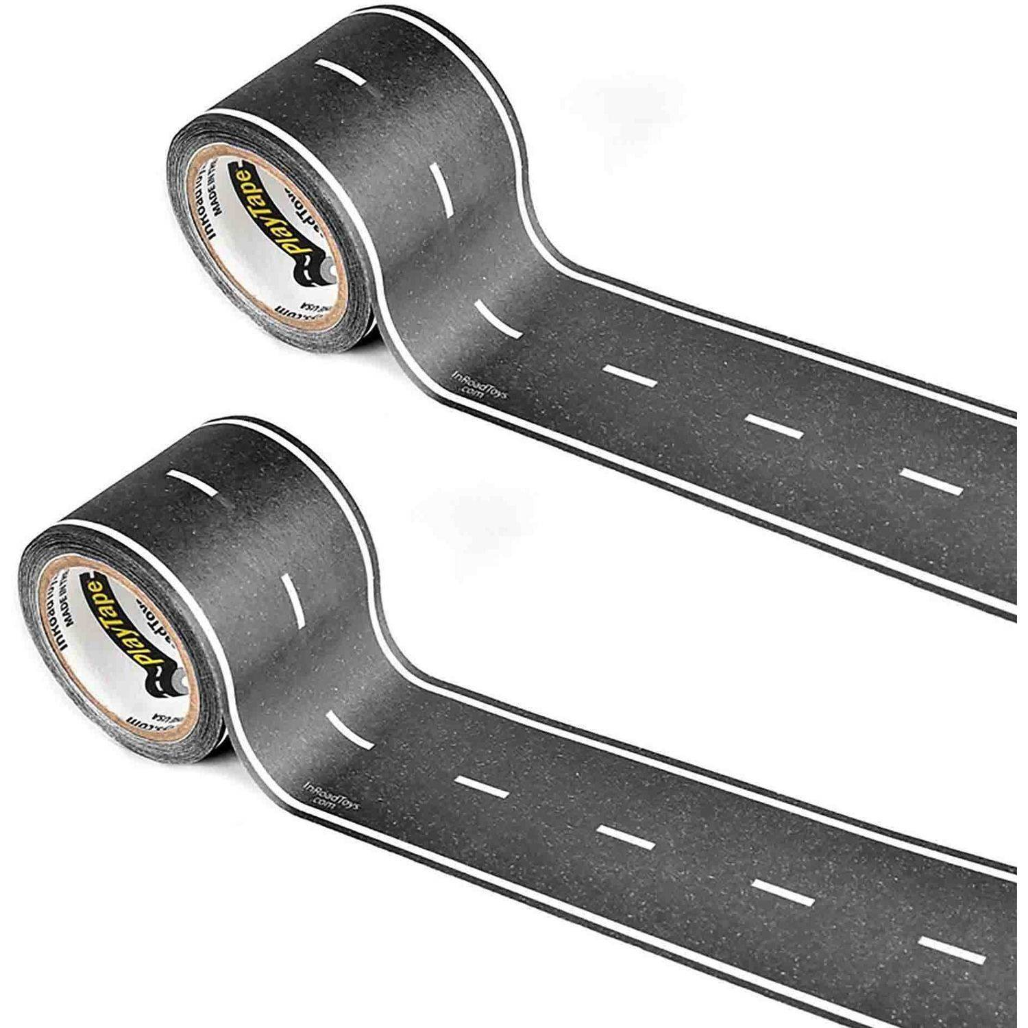 "PlayTape Classic Road Series Bundle 30' x 2"" Road, Black, Pack of 2"