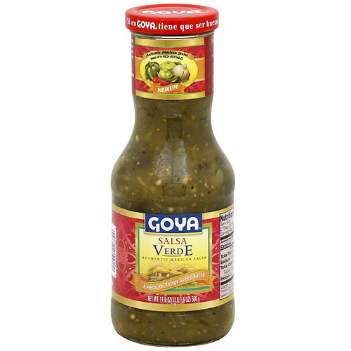 Goya Medium Verde Salsa, 17.6 oz (Pack of 12)