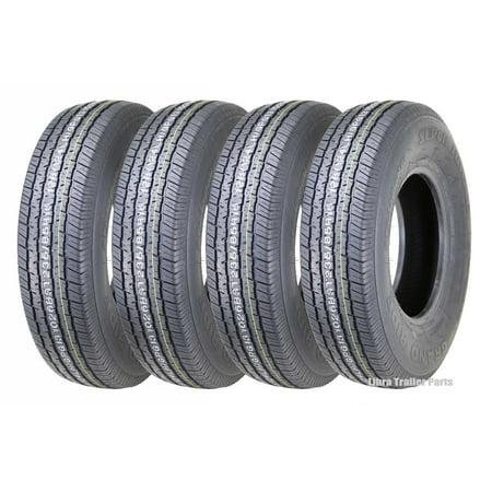 - Set 4 Premium Grand Ride Trailer Tires ST235/85R16 12PR Load Range F Steel Belted Radial