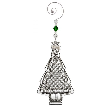 (2016 Waterford Annual Christmas Tree Crystal Ornament Hanging Decoration New)