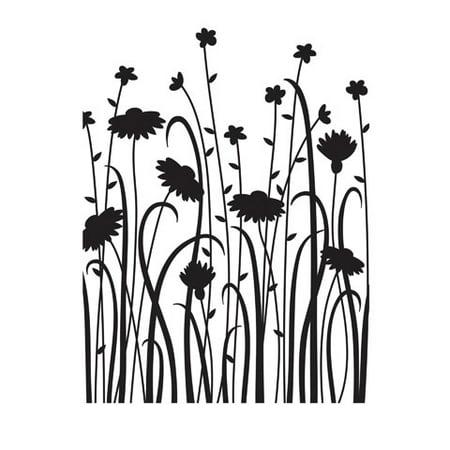 Emboss Folder - Embossing Folder Dainty Wildflowers 4.25X5.75 By Darice